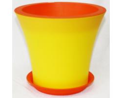 Горшок Кантри с/п D20*H17.5 3,0л желтый+оранжевый