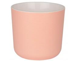 Горшок Лион с вкладкой D14,7*H13см 2,0л пудровый/розовый