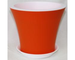 Горшок Кантри с/п D20*H17.5 3,0л оранжевый+белый
