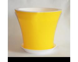 Горшок Кантри с/п D20*H17.5 3,0л желтый+белый