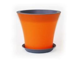 Горшок Кантри с/п D20*H17.5 3,0л оранжевый+антрацит
