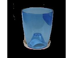 Вазон Орхидея 12*14см 1л синий прозрачный