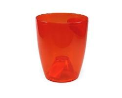 Вазон Орхидея 12*14см 1л темно-оранжевый