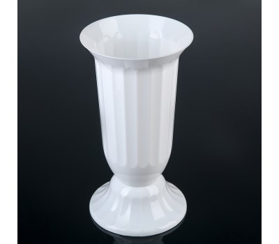 Вазон Флора 2.0л белый H29см