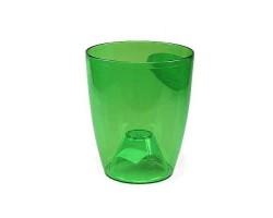 Кашпо DUOW D13*H16см 1,4л прозрачный зеленый
