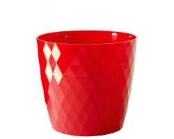 Кашпо CRISTAL с/п D14*H13см 1,4л красный