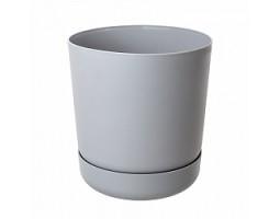 Горшок Satina с/п D17*H19см 3,3л серый