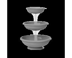 Каскад Fontana 3-х ярусный D30см/D40см/D50см*H64см серый