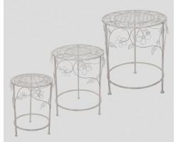Набор подставок круглых (металл) Цветы (3 шт) арт.PL08-4509