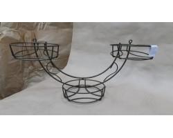 Подставка настенная Качели 3 горшка (металл)