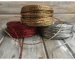 Веревка металлизированная 4мм*70м 250гр красный арт.Р307