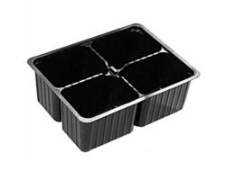 Мини кассета для рассады (пластик) 4 ячейки