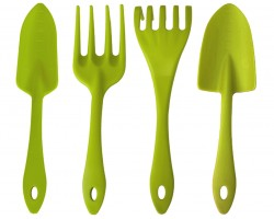 Набор садовых инструментов (совок, лопатка, грабли, вилка)
