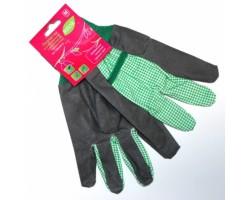 Перчатки Listok хозяйственные с манжетой х/б с винил покрытием зеленый M
