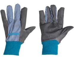 Перчатки Listok хозяйственные с манжетой х/б с винил покрытием синий M
