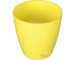 Горшок Румба D14*H14,5см 1,5л лимон