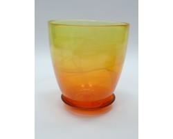 Горшок №3 алеб.крш.D14.5*H15см желто-оранжевый