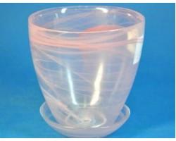 Горшок №3 алеб.D14.5*H15см розовый