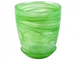 Горшок №3 алеб.D14.5*H15см зеленый