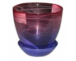 Горшок №4 алеб.крш.D15.5*H18см розово-фиолетовый