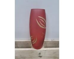Ваза (стекло) ручная роспись 26см овал 26141