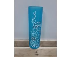 Ваза (стекло) ручная роспись 30см цилиндр 30323