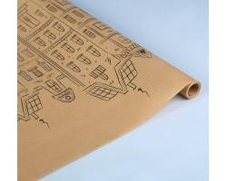 Бумага упаковочная крафт Амстердам 60см*10м арт.3697048