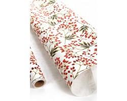 Бумага капелла 41/663-00 Снежные ягоды на белом 100см*10м