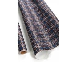 Бумага капелла 41/660-55 Шотландка синяя 100см*10м