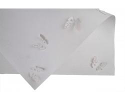 Бумага крафт 3D Бабочки 100гр/м2 70*50см (10 листов) белая