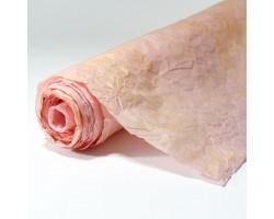 Бумага жатая с золотом 70-75см*5м светло-розовый