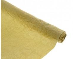 Бумага жатая с золотом 70-75см*5м оливковый