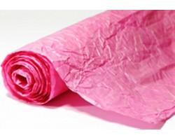 Бумага жатая с серебром 70-75см*5м розовый