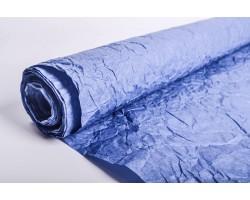 Бумага жатая с серебром 70-75см*5м ярко-синий