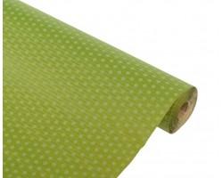 Бумага упаковочная рельефная Горошек зеленый 70см*10м