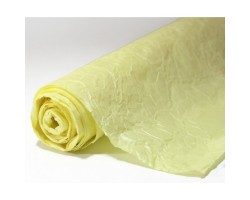 Бумага жатая влагостойкая однотонная 70-75см*5м светло-желтый