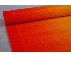 Бумага гофрированная простая-переход 180гр 576/9 желтый+красный