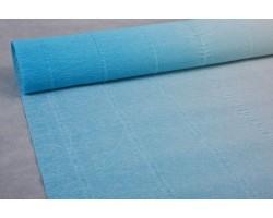 Бумага гофрированная простая-переход 180гр 600/2 белый+голубой