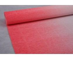 Бумага гофрированная простая-переход 180гр 600/4 белый+розовый