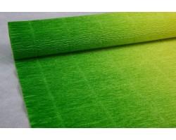Бумага гофрированная простая-переход 180гр 600/5 желтый+зеленый