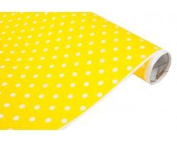 Бумага белая крафт 40гр/м2 70см*10м Полька желтый