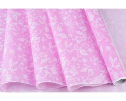 Бумага белая крафт 40гр/м2 70см*10м Сказочная гжель розовый