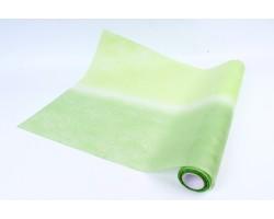 Фетр Корея двухцветный 50см*15м салатовый+зеленый