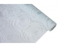 Фетр Круговорот ламинированный 3D 60см*10м белый