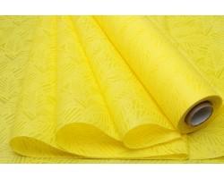 Фетр Листья изящные ламинированный 3D 50см*10м желтый