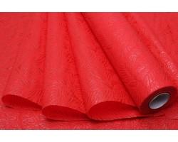 Фетр Листья изящные ламинированный 3D 50см*10м красный