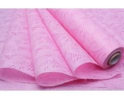 Фетр Листья изящные ламинированный 3D 50см*10м розовый