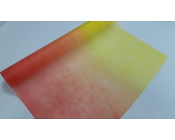 Упак.материал 50см*12м фетр с переходом персиковый+желтый