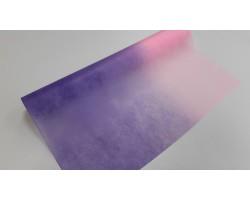 Упак.материал 50см*12м фетр с переходом сиреневый+розовый