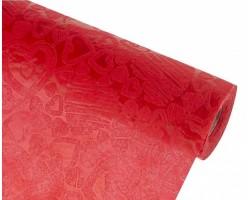 Упак.материал ламинированный фетр 3D Mini Heart 50см*10м красный